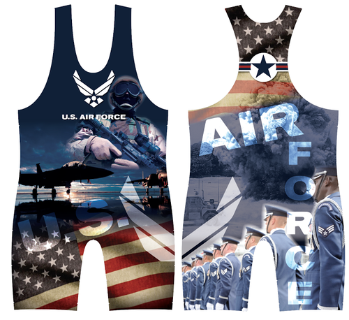 US Airforce Wrestling Singlet