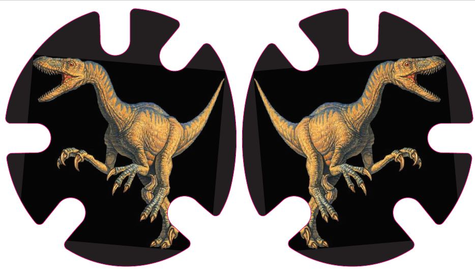 Velociraptor Dinosaur:  Wrestling Headgear Decals, Wraps by 4Time All American
