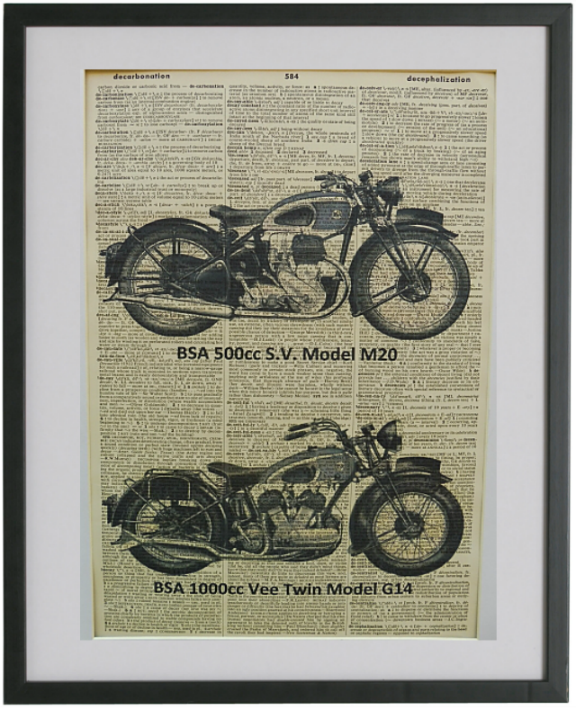 Vintage motorcycle and car prints added to Decoris Designs collections