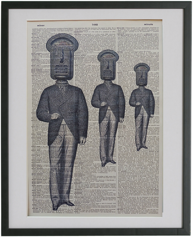 Love Quirky Prints?  Check out these Parking Meter Men!