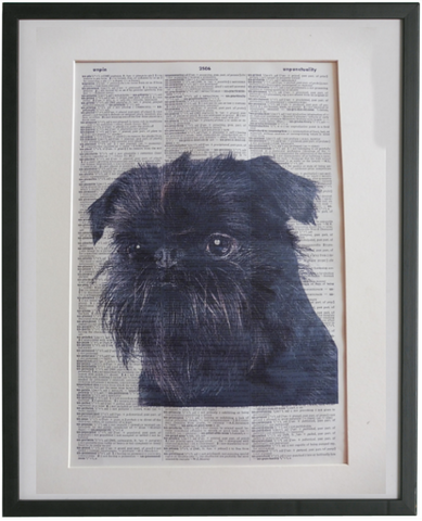 Affenpinscher Dog #2 Wall Art No.944
