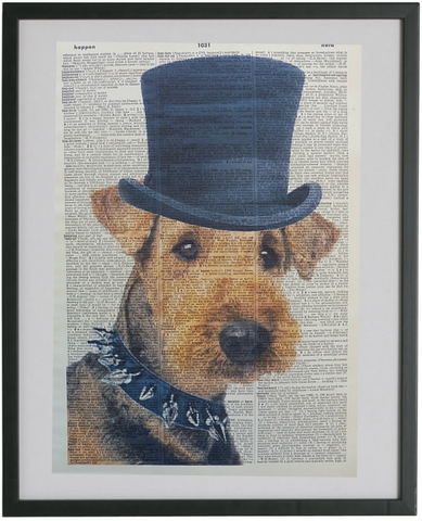Airedale Terrier Dog Print No.437