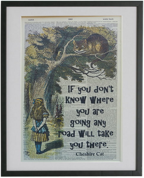 Alice in Wonderland Cheshire Cat Quote #1 Print No.517