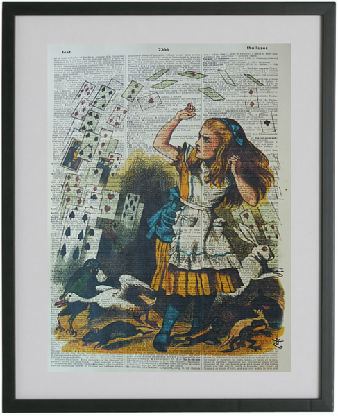 Alice in Wonderland Flying Cards Print No.146