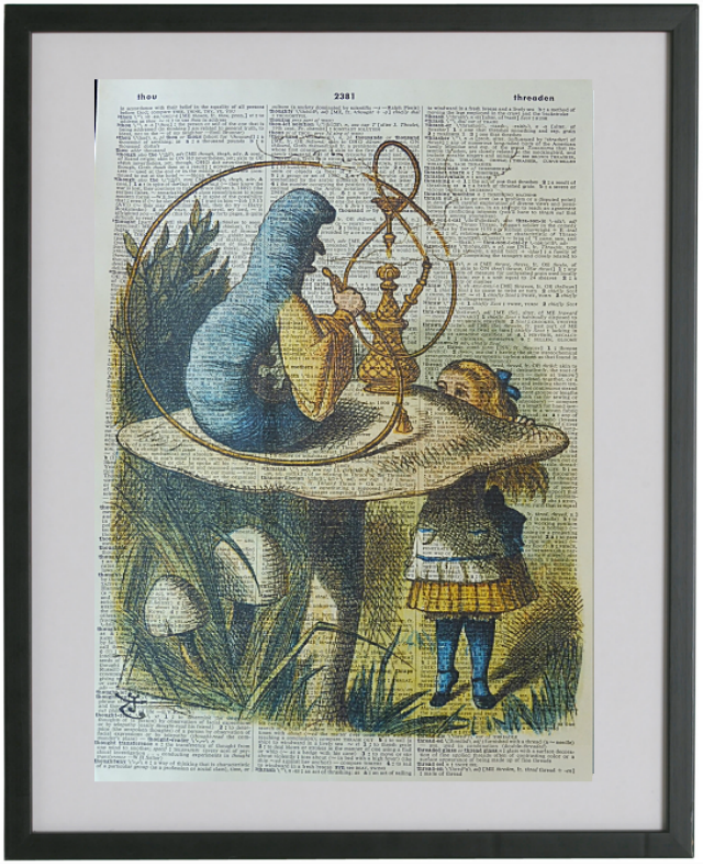 Alice in Wonderland Hookah Worm Print No.148