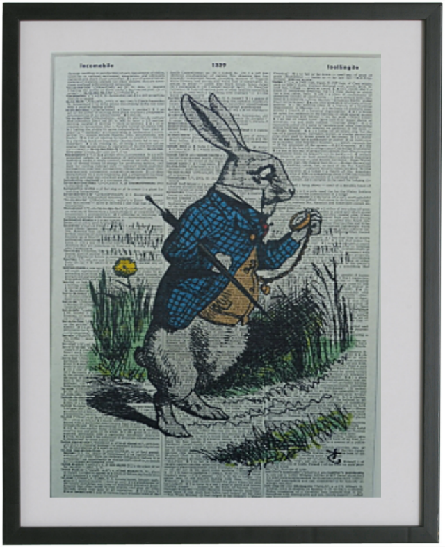 Alice in Wonderland Late Rabbit Print No.130