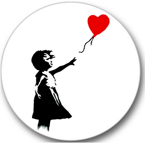 Banksy Balloon Girl Sticker Seals No.329, miscellaneous