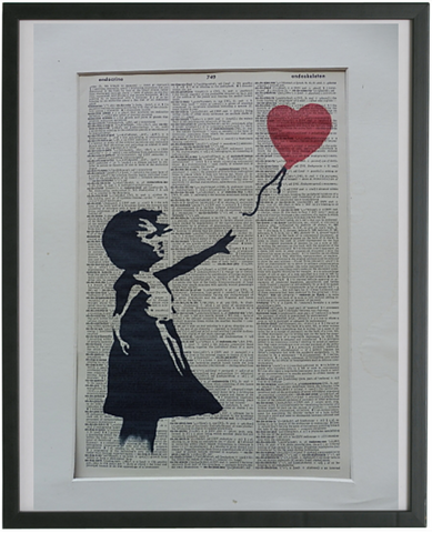 Banksy Girl with Balloon Wall Art No.339, miscellaneous