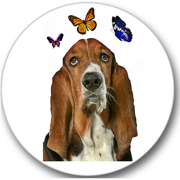Basset Hound Dog #1 Sticker Seals No.182