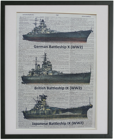 Navy Battleships Wall Art No.283