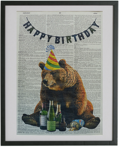 Bear #1 Wall Print No.235, animals