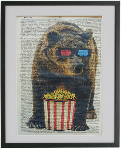 Bear #2 Wall Print No.220, animals