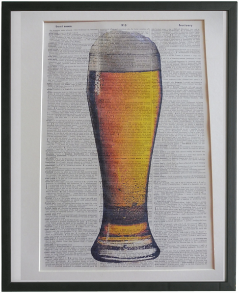 Beer Glass Print No.947
