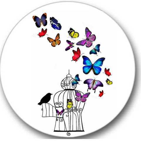 Butterflies Flying Sticker Seals No.378