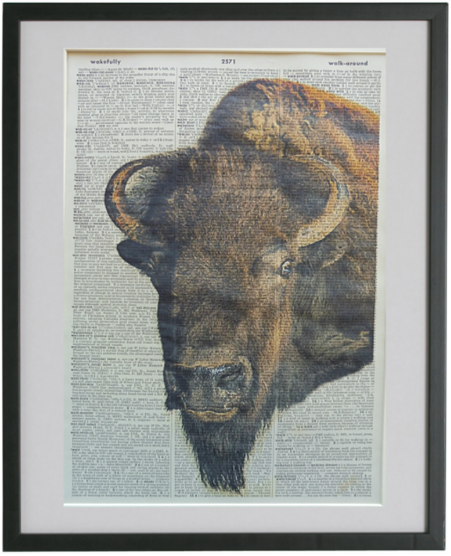Bison Print No.556, animals