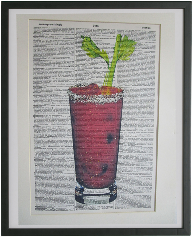 Bloody Mary Cocktail Wall Art No.364