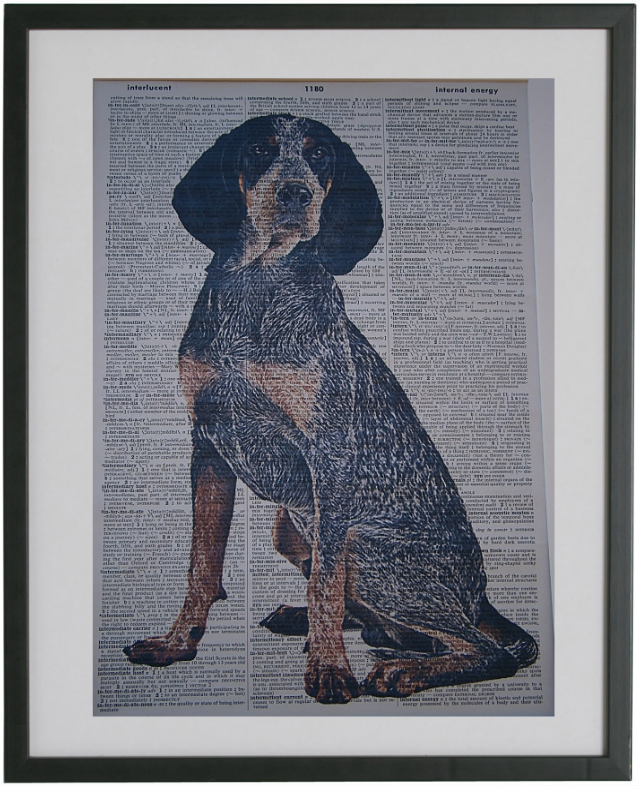 Bluetick Coonhound Dog Print No.160