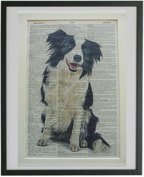 Border Collie Dog #2 Wall Art No.833
