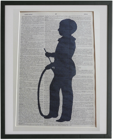 Boy With Hoop Silhouette Print No.938