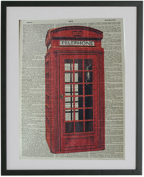 British Telephone Box Print No.411