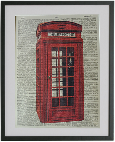British Telephone Box Print No.411, miscellaneous