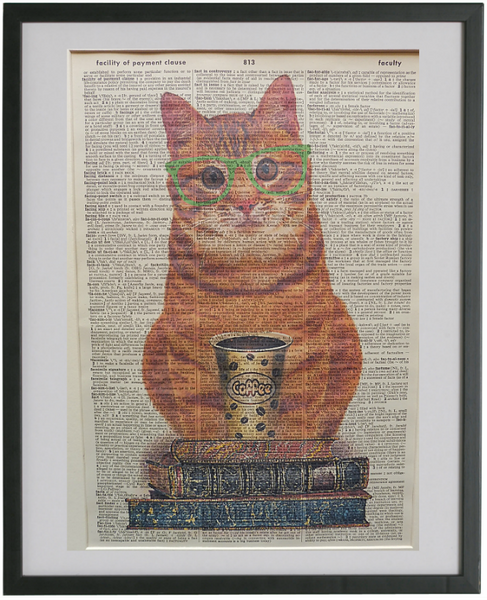 Ginger Cat #3 Wall Art No.531