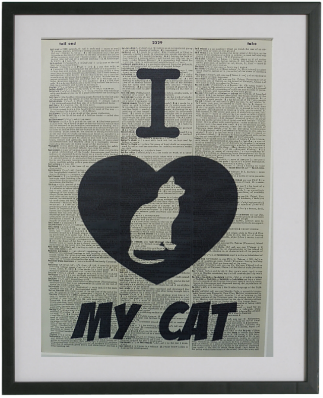 I Love My Cat Wall Art No.357