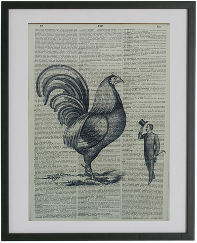 Chicken Print No.478, gothic