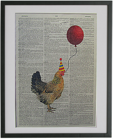 Chicken #1 Wall Print No.2, bird print