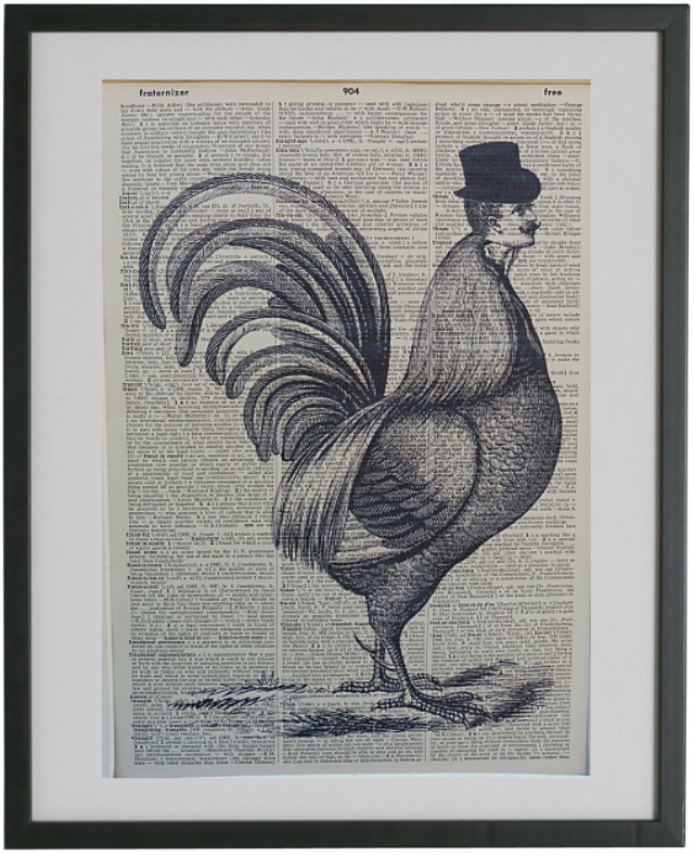 Chicken Print No.479, gothic