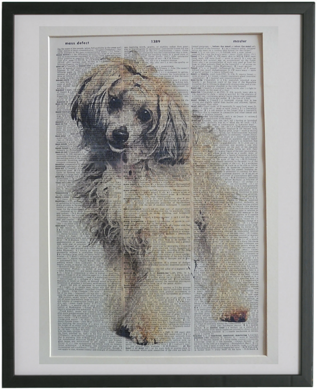 Chinese Crested Powderpuff Dog Wall Art No.919