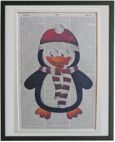 Christmas Penguin Print No.858