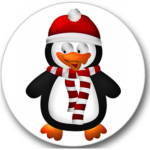 Christmas Penguin Sticker Seals No.858