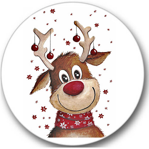 Christmas Reindeer Sticker Seals No.859
