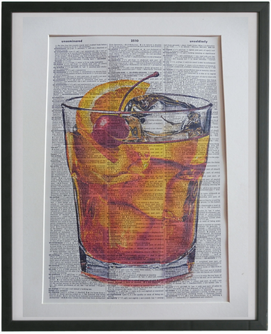 Old Fashioned Cocktail Print No.943