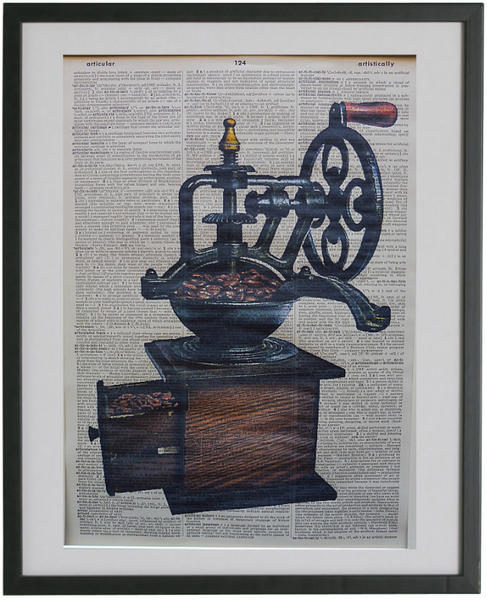 Coffee Grinder Print No.525, vintage equipment