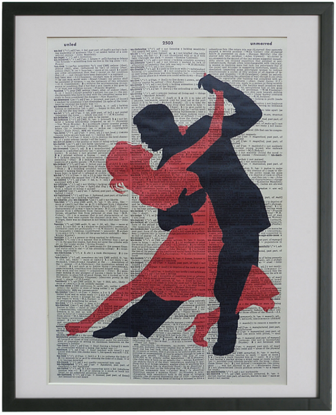 Dancing Couple Wall Print No.207