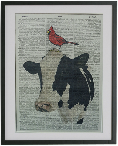 Cow and Bird Print No.176, animals