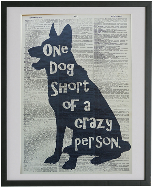 Crazy Dog Person Print No.563