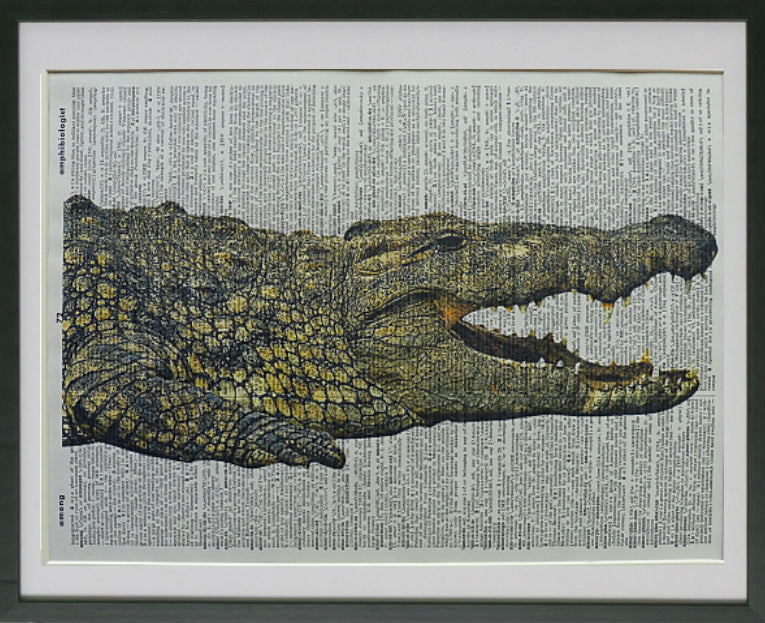 Crocodile #1 Wall Art No.254, animal