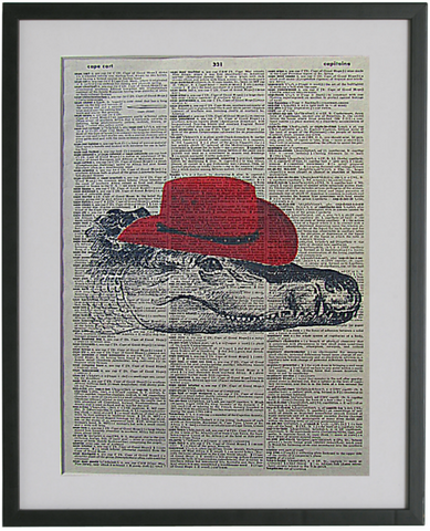 Crocodile Wall Print, animal