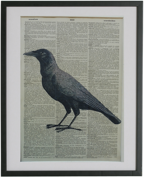 Crow Print No.169, bird prints
