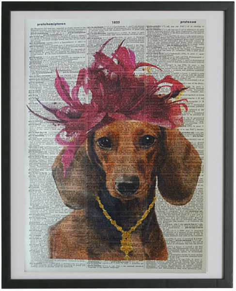 Dachshund Dog Print No.222