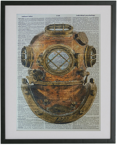 Diving Helmet Print No.95