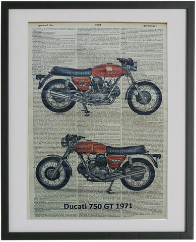 Ducati Motorcycle Print No.134