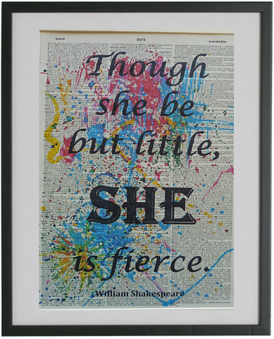 Shakespeare Quote Print No.57, inspirational quote prints