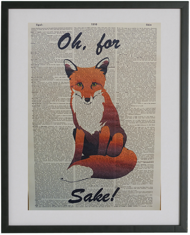 Fox Print No.373, animals