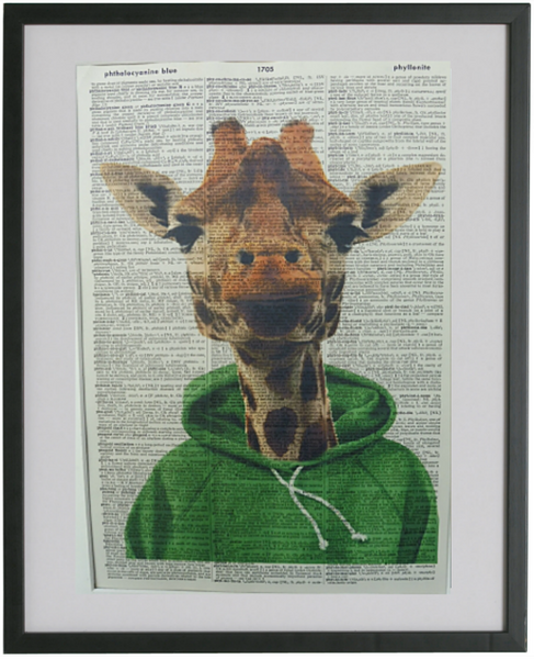 Giraffe Print No.96, animals