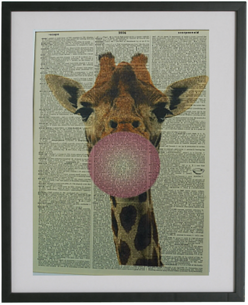 Giraffe Print No.334, animals