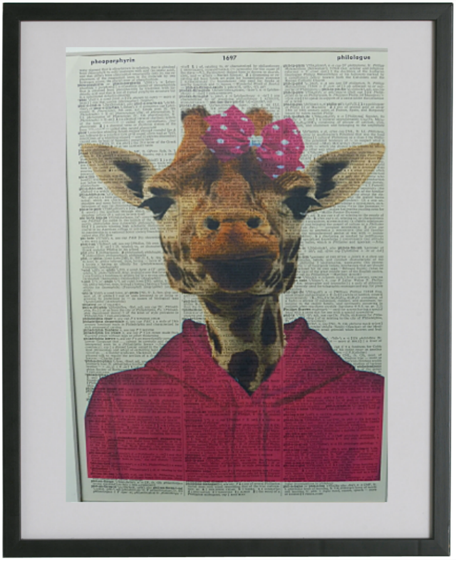 Giraffe Print No.97, animals